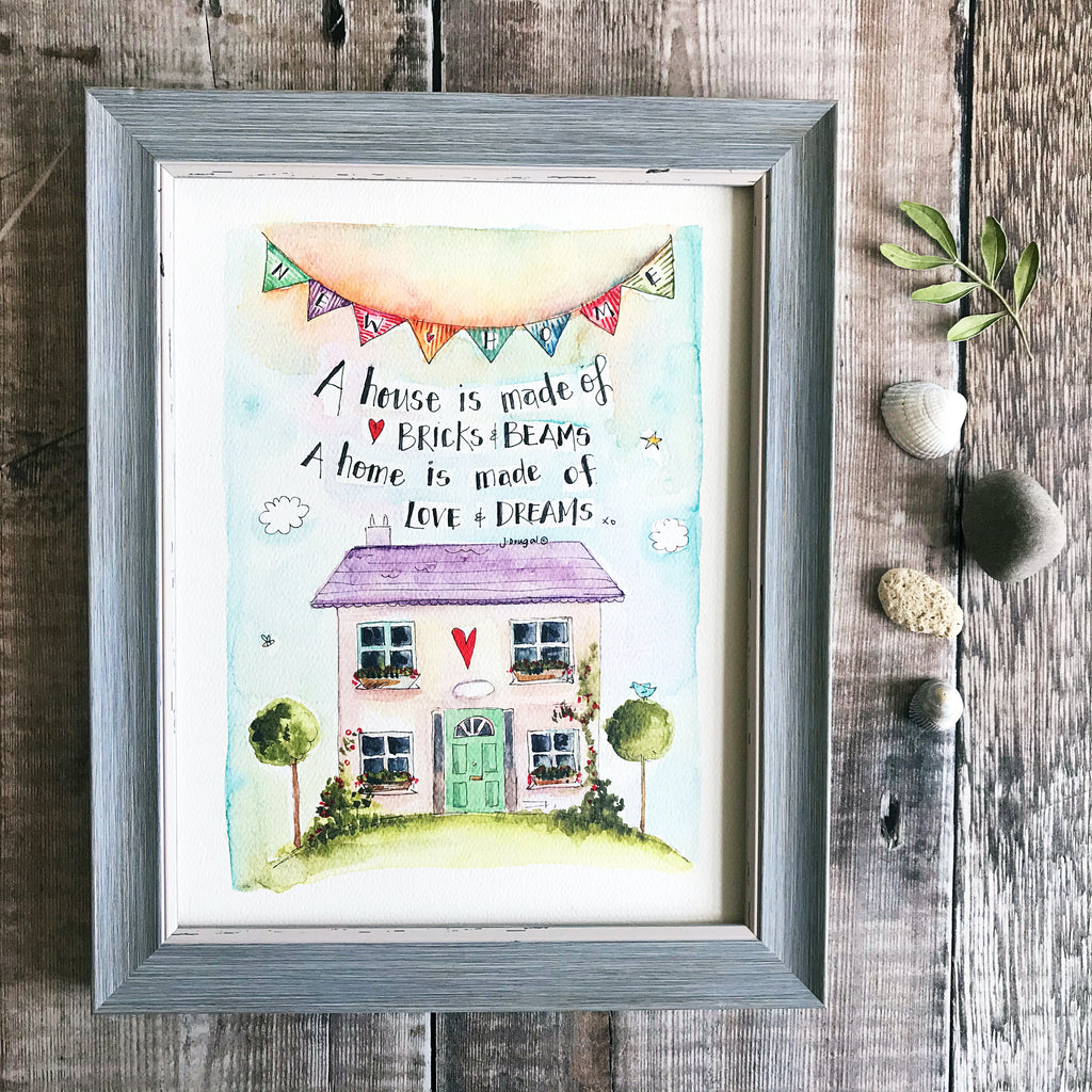 """New Home Bunting"" Personalised Print"