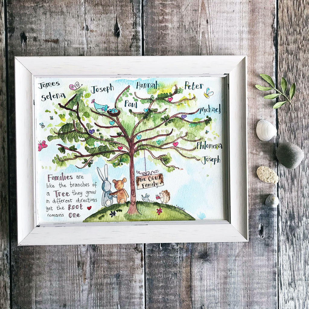 """Family Tree"" Personalised Print"