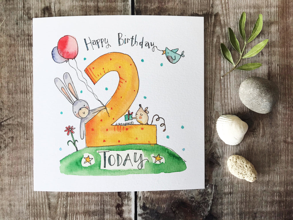 2nd Birthday Card - Personalised