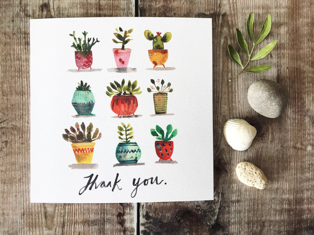 Thank you Plants Card - Personalised