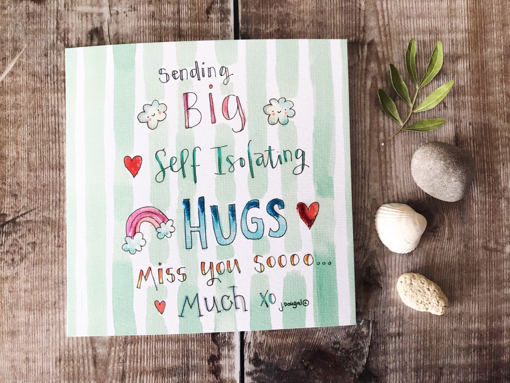 """Sending Self Isolation Hugs"" Card - Personalised"