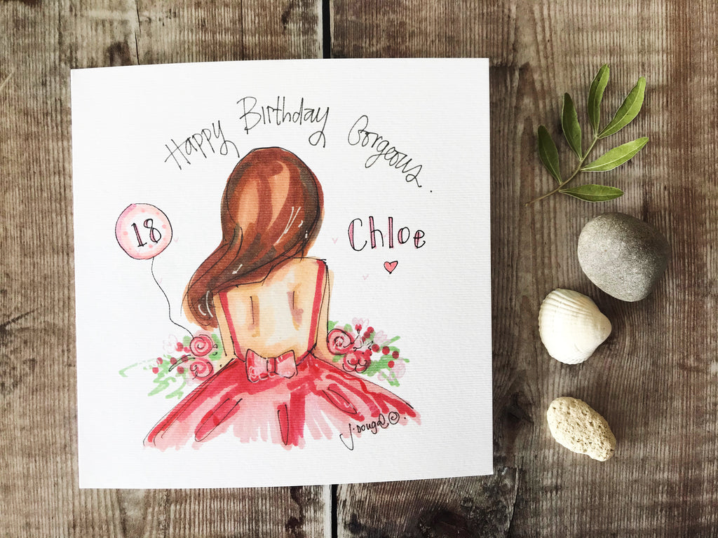 Happy Birthday Gorgeous Card - Personalised
