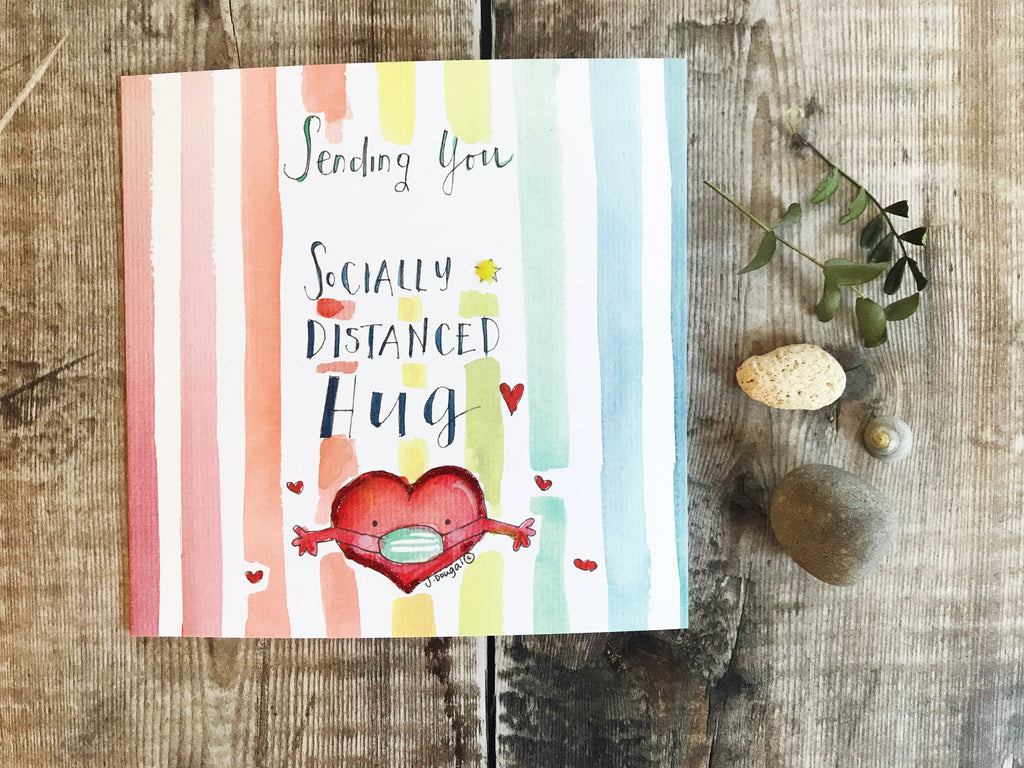 """Sending a Hug"" Card - Personalised"