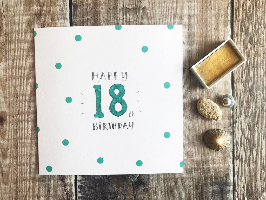 Happy 18th Birthday Card - Personalised