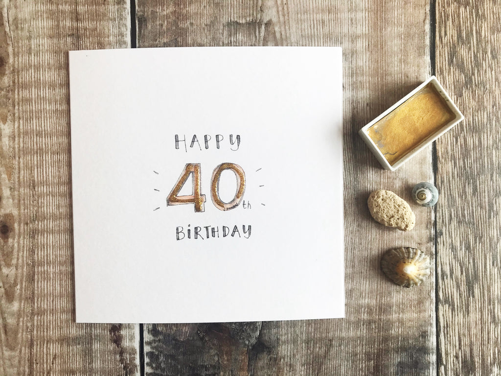 Happy 40th Birthday Card - Personalised