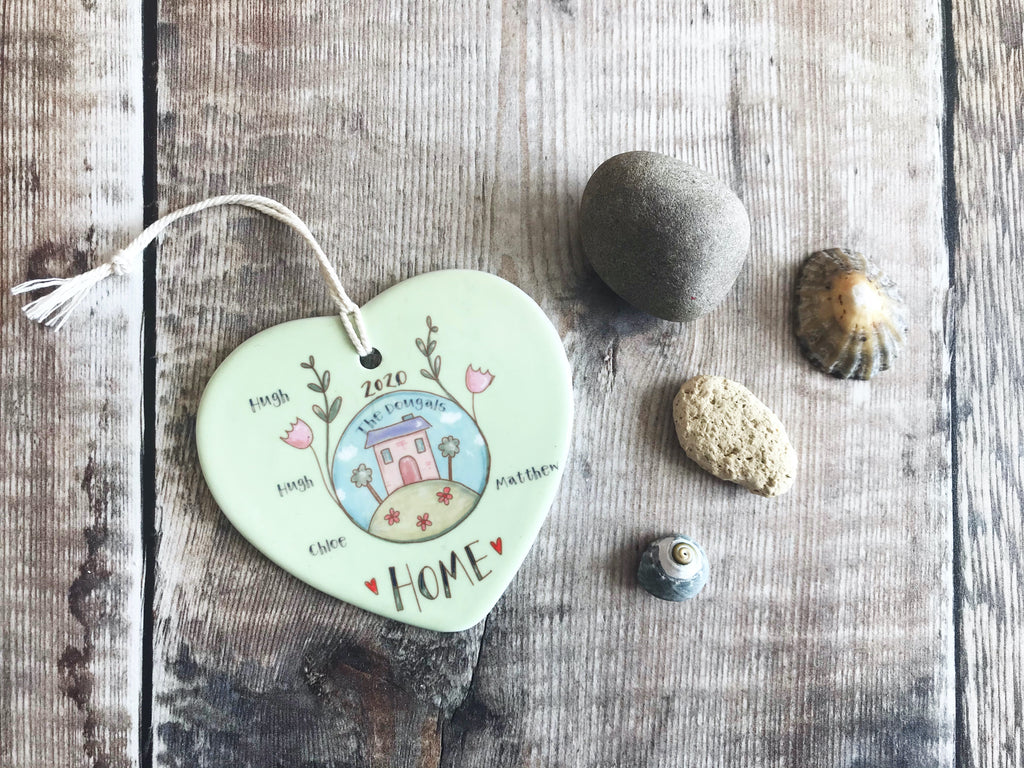 Personalised Little Home Ceramic Heart