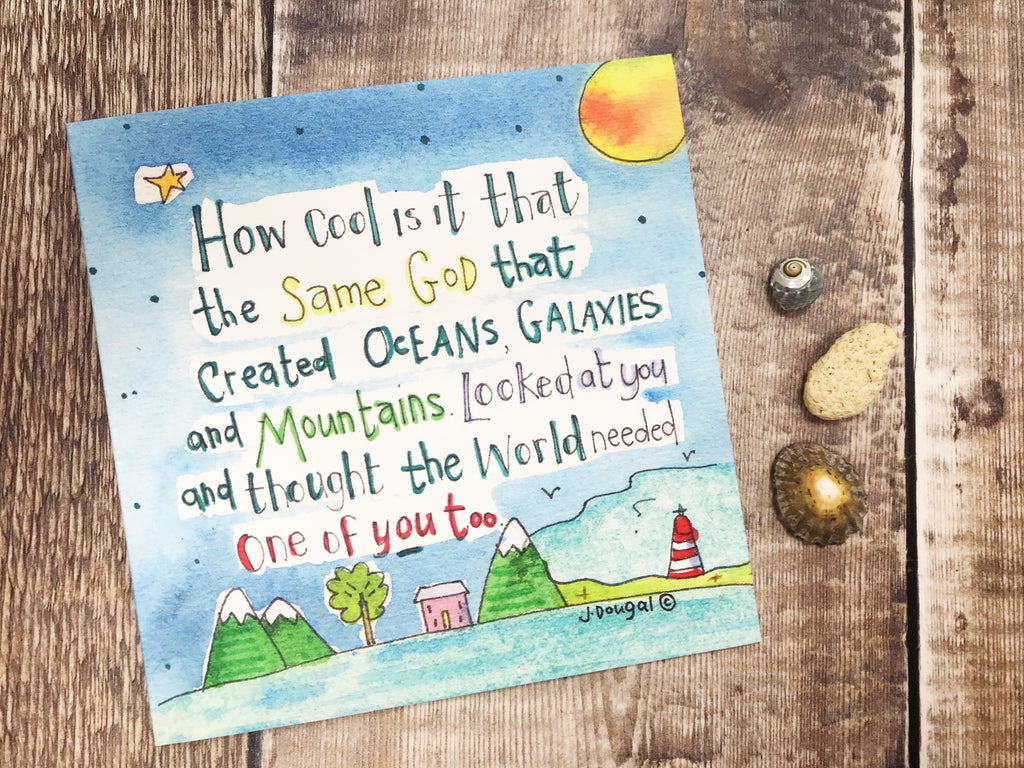 """God created You"" Card - Personalised"