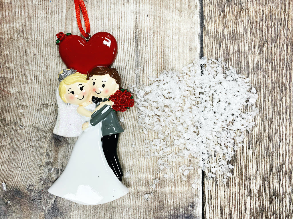 """Wedding Heart Couple"" Christmas Decoration"