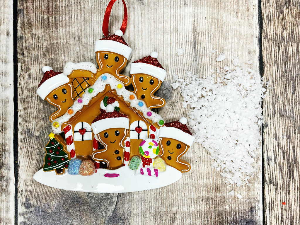 Gingerbread Family Hanging Christmas Decoration