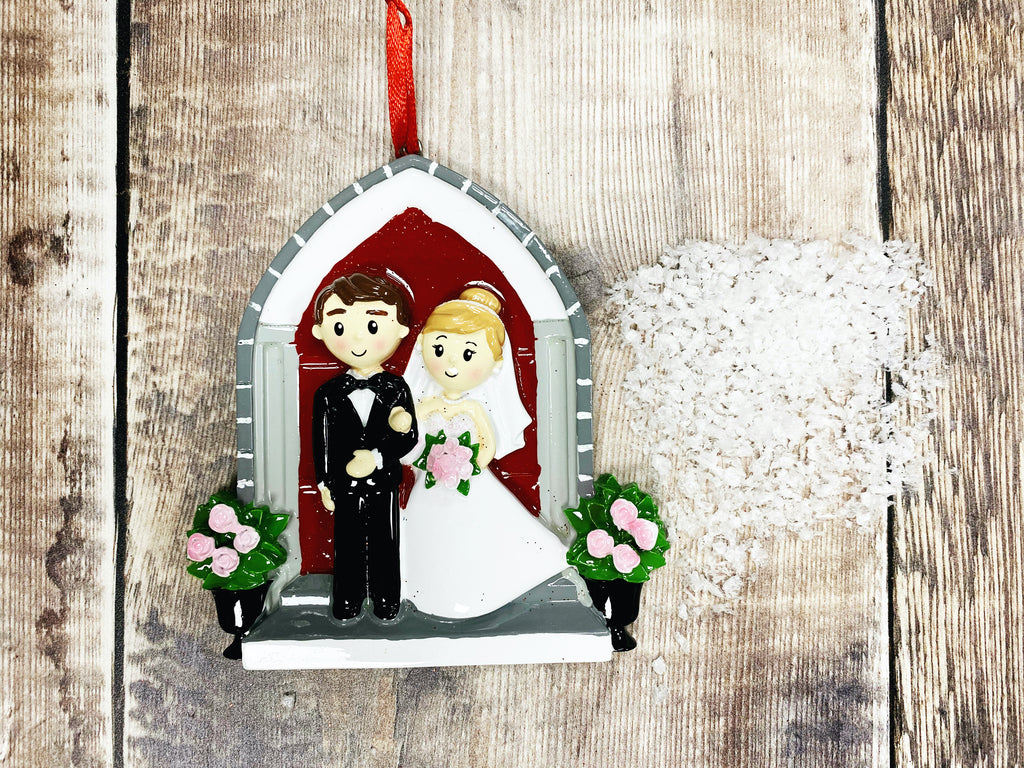 """Wedding Church Couple"" Christmas Decoration"
