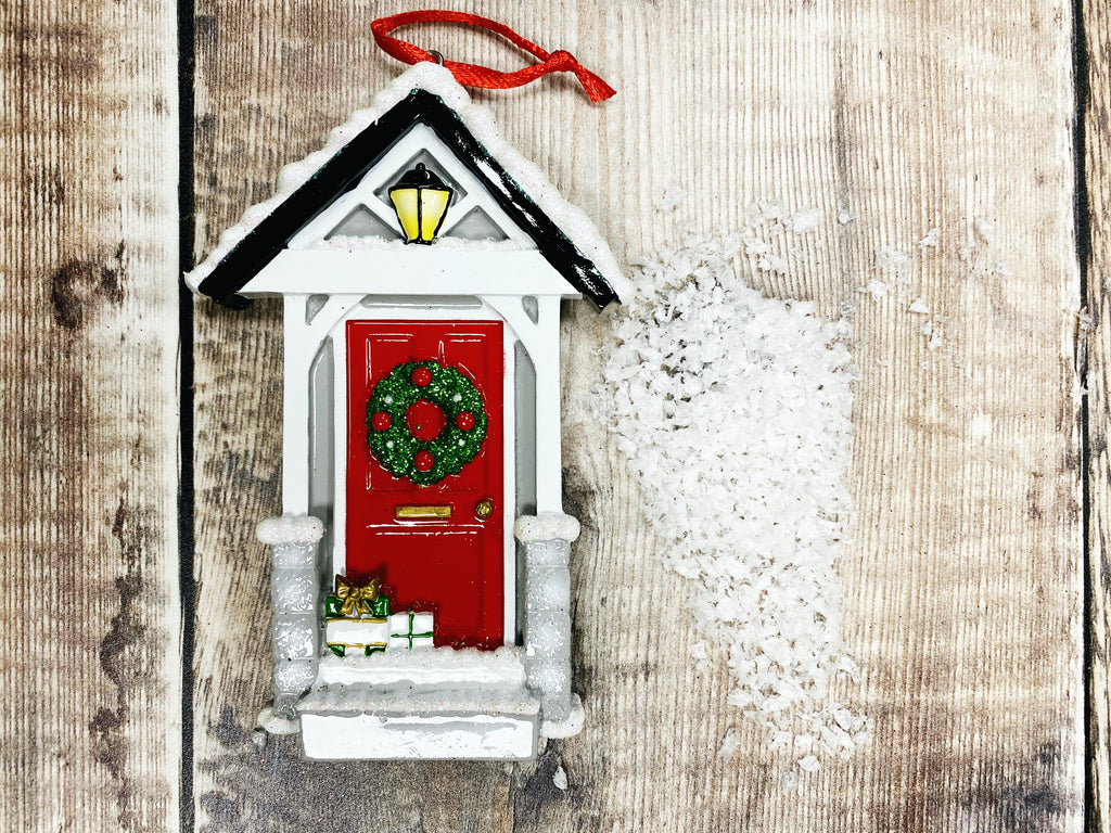 Red Door Christmas Decoration