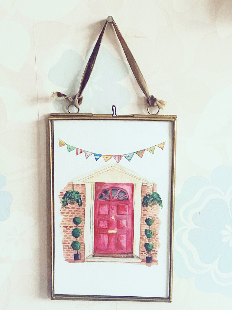 Front Door Hanging Glass Picture