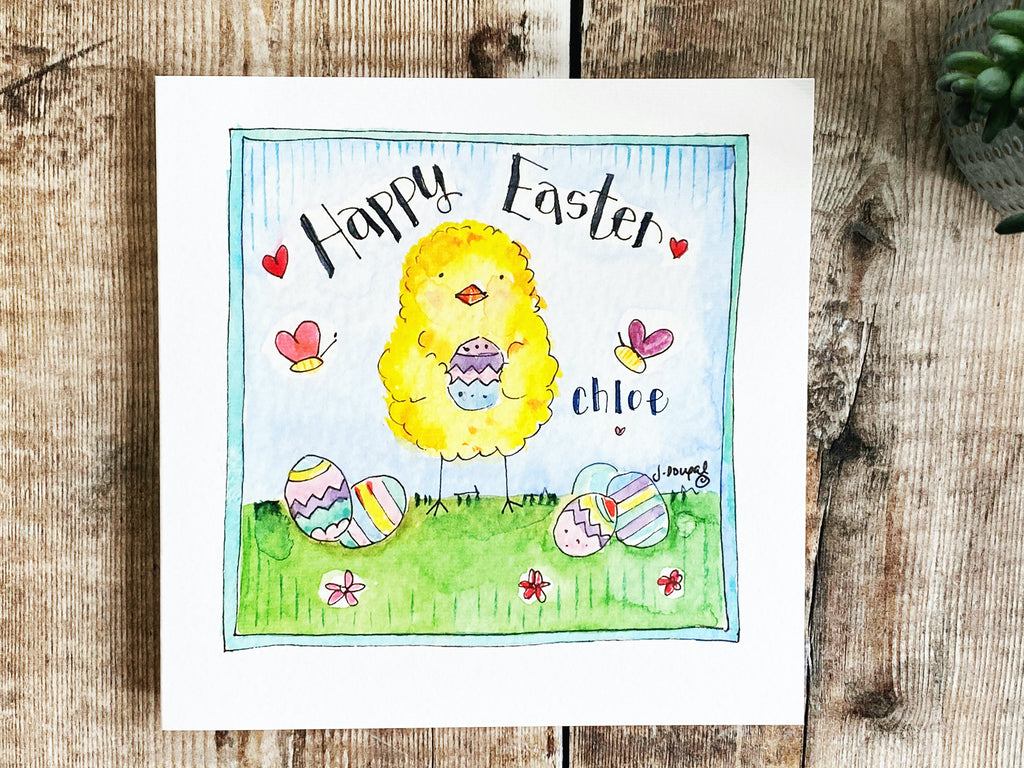 """Easter Chick"" Card - Personalised"
