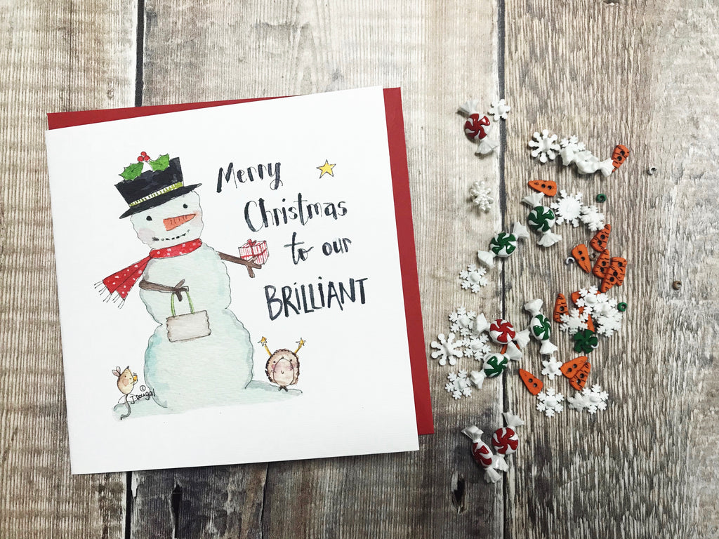 """To our Brilliant"" Christmas Card - Personalised"