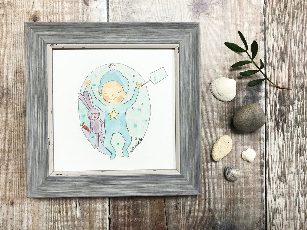 Little Framed Print Little Baby Boy can be personalised