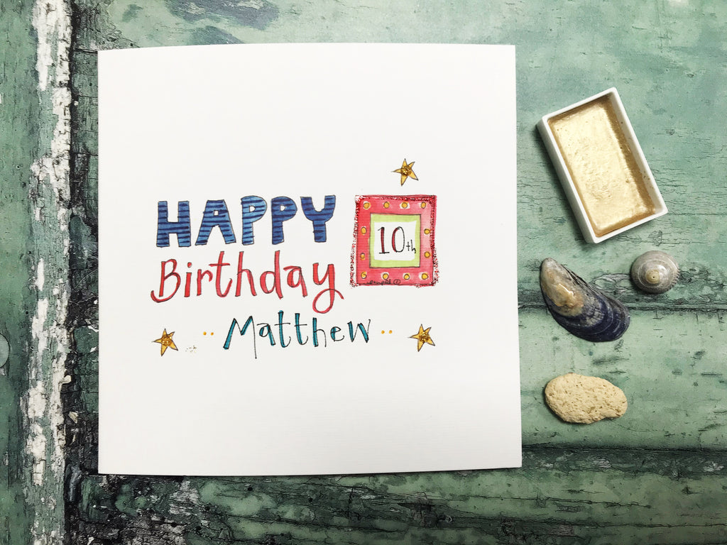 """Birthday Lights"" Card - Personalised"