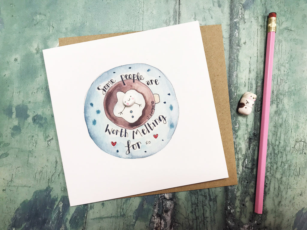 Some People are worth Melting for Card - Personalised