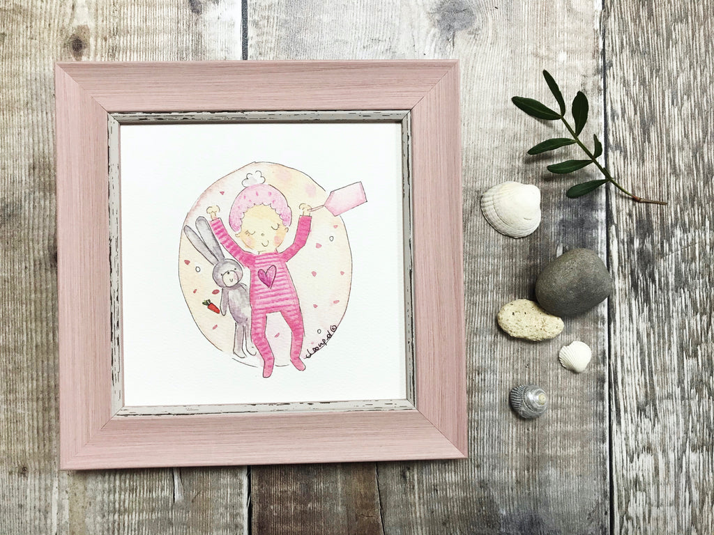 Little Framed Print Little Baby Girl can be personalised