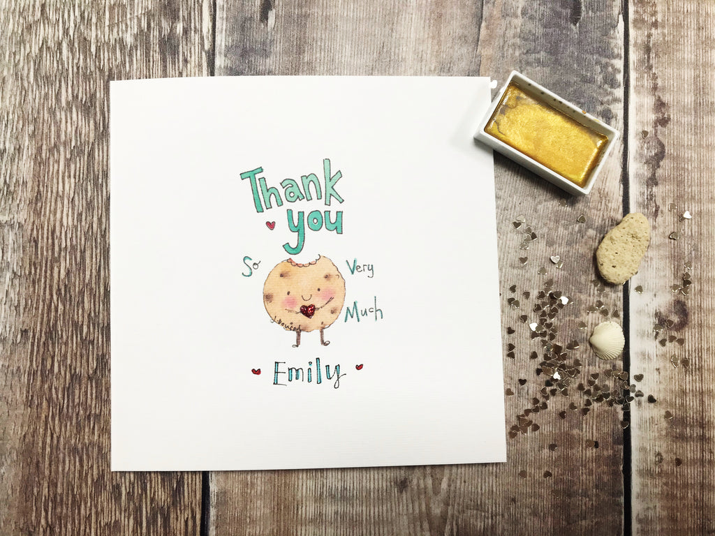 Thank you Cookie Card - Personalised