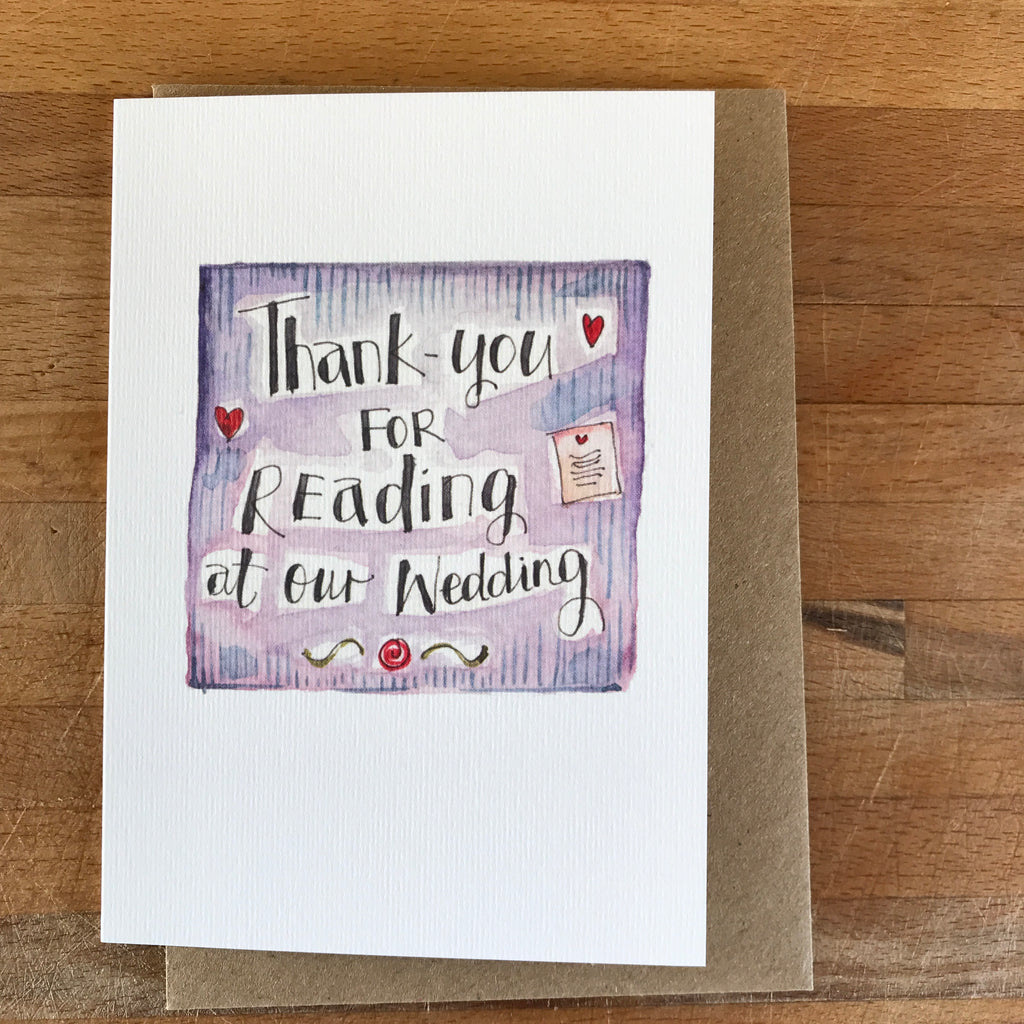 Wedding Thank-you cards for your Wedding Party