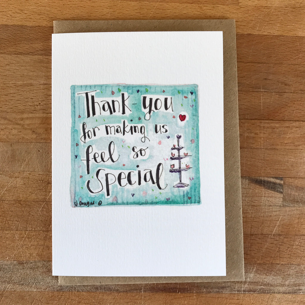 Wedding Thank-you cards for your Wedding Party - PERSONALISED