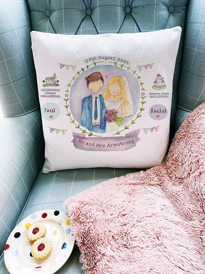 Wedding Couple Personalised Cushion