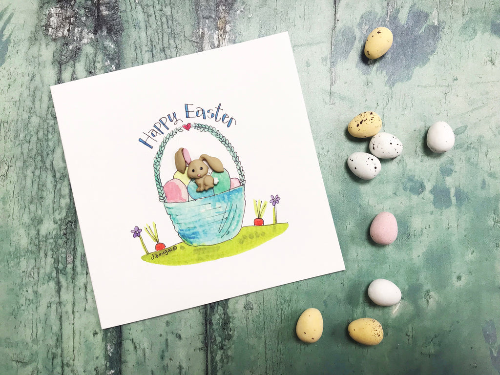 """Easter Bunny"" Card - Personalised"