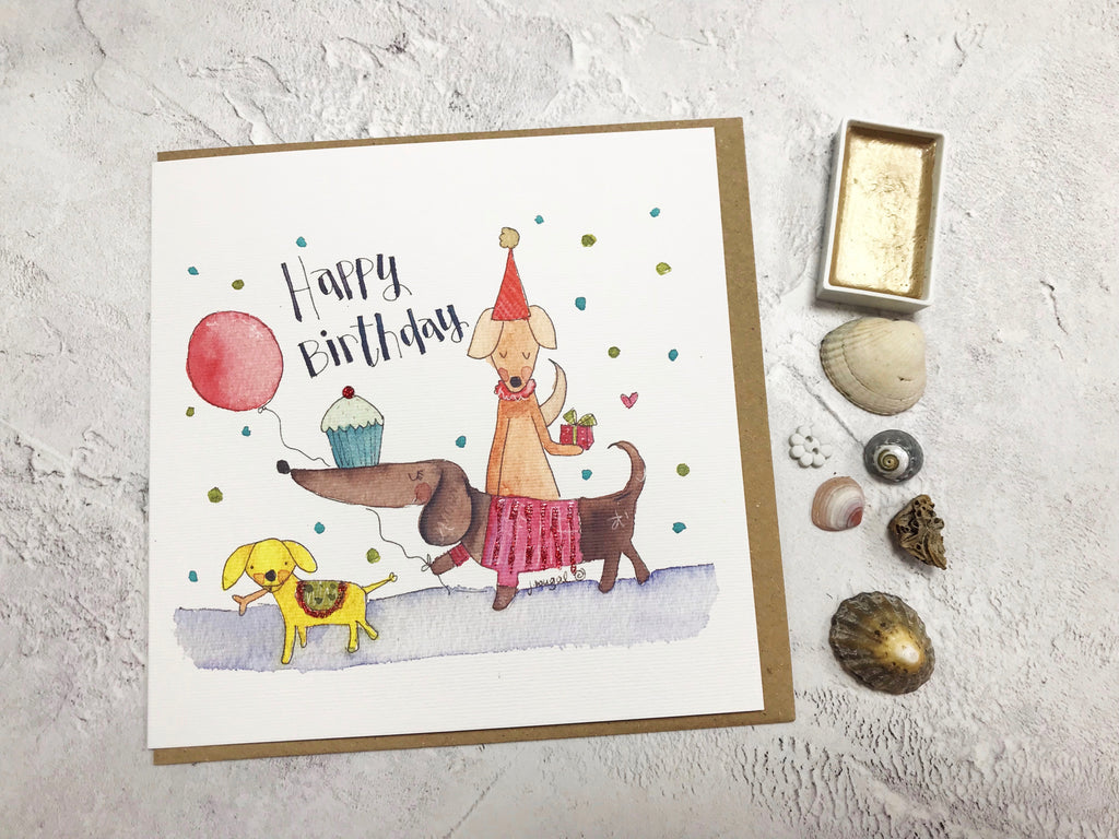 Posh Pooch Birthday Card - Personalised
