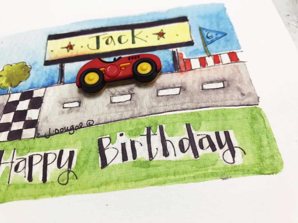 Little Car Card - Personalised