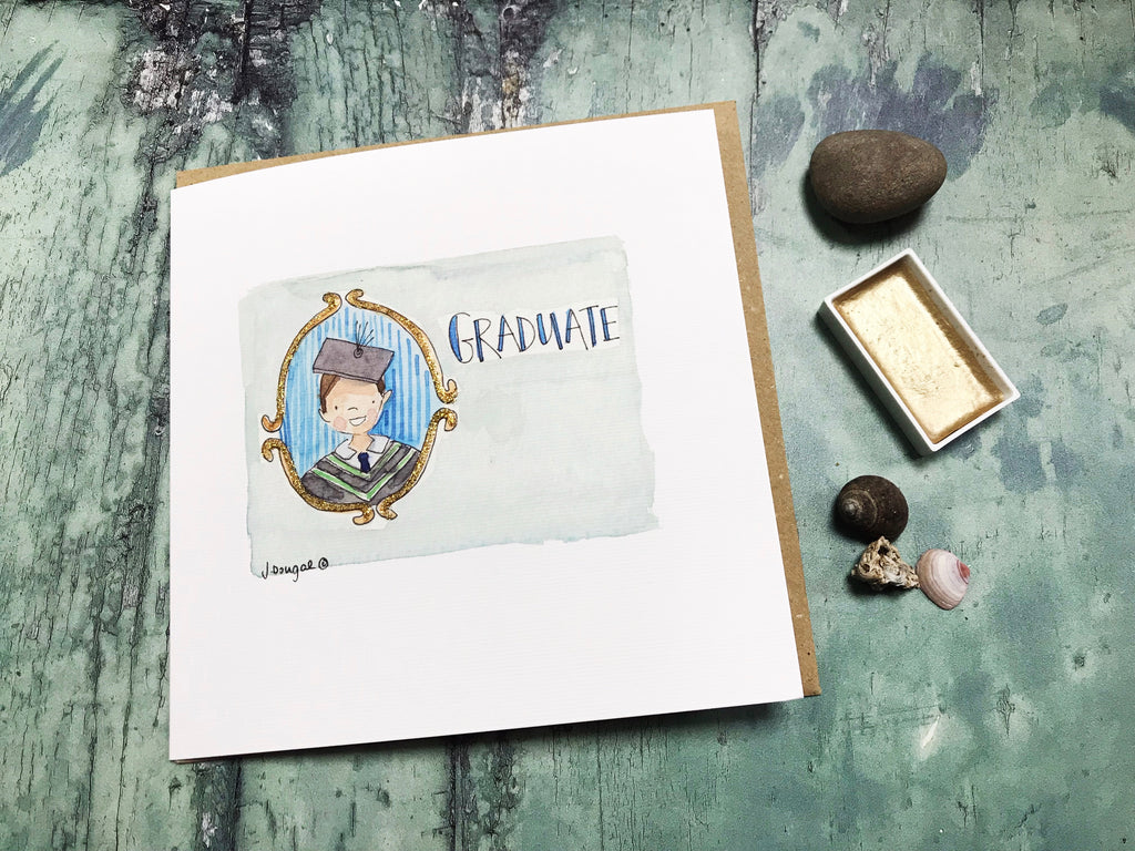 Boy Graduate Card - Personalised