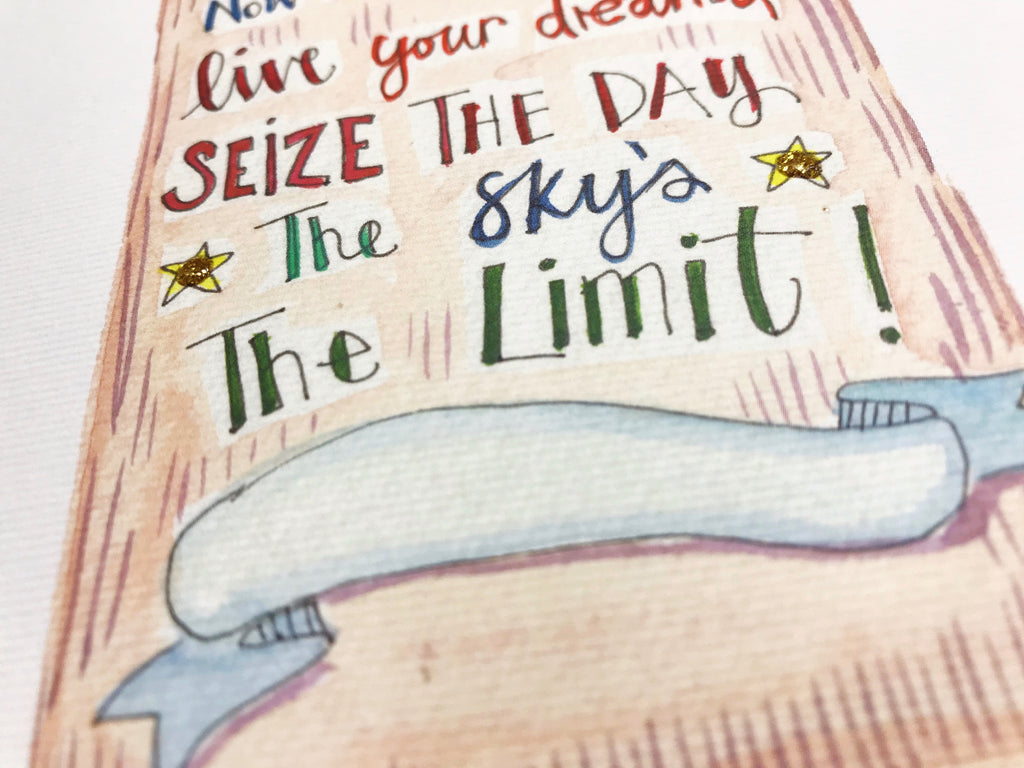 Sky's the limit Graduate card - Personalised