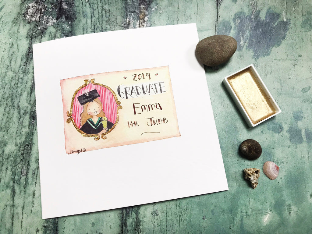 Girl Graduate Card - Personalised