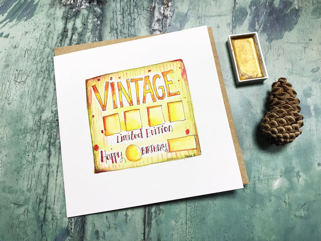 """Vintage"" Card - Personalised"