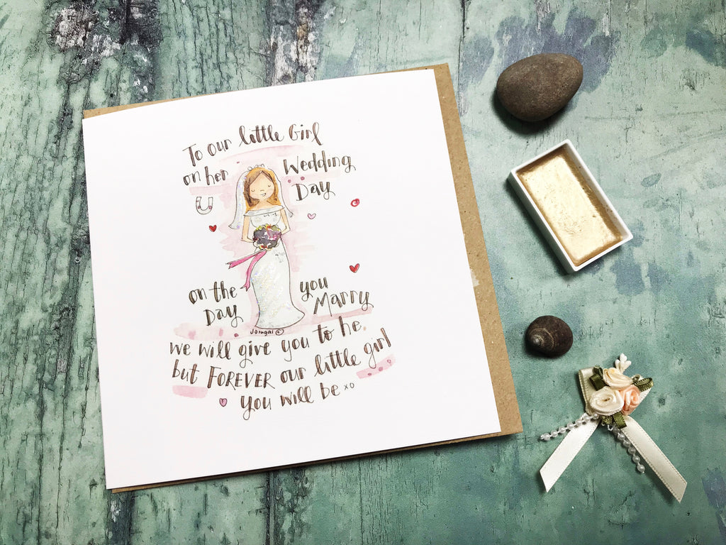 Our little Girl on her Wedding Day Card - Personalised