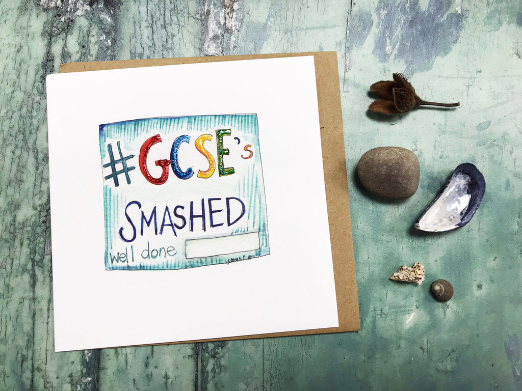 GCSE's Smashed Card- Personalised
