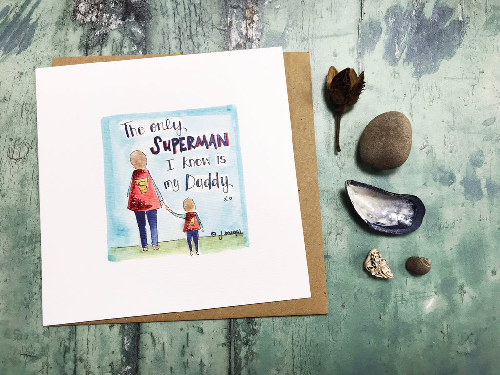 """Superman Dad"" Card - Personalised"