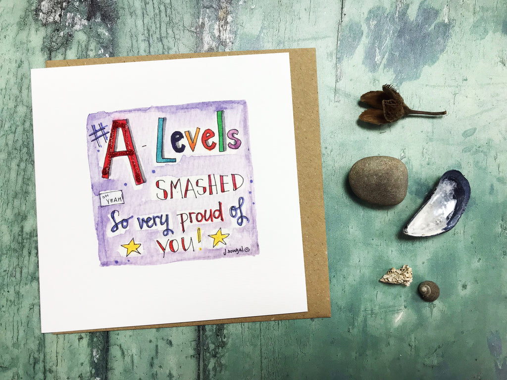 A-Levels Smashed Card - Personalised