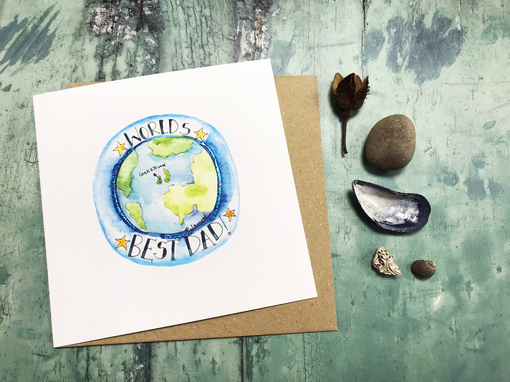 """Worlds Best Dad"" Card - Personalised"