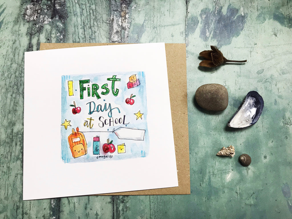 First Day at School Card - Personalised