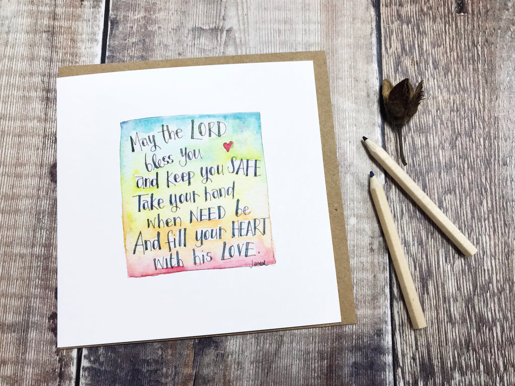 May the Lord Bless You Card - Personalised