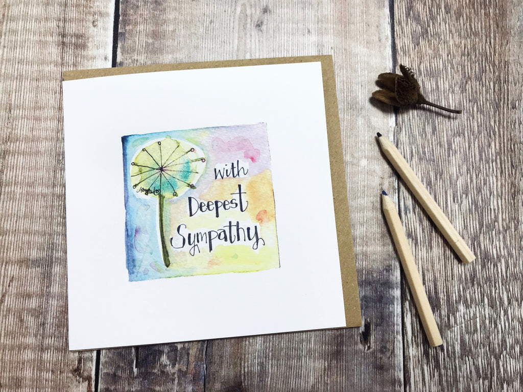 Deepest Sympathy Card - Personalised