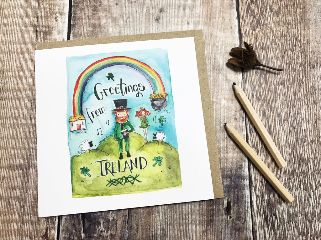 """Greetings from Ireland"" Card - Personalised"