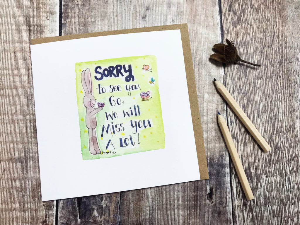 Sorry You are Leaving Card - Personalised