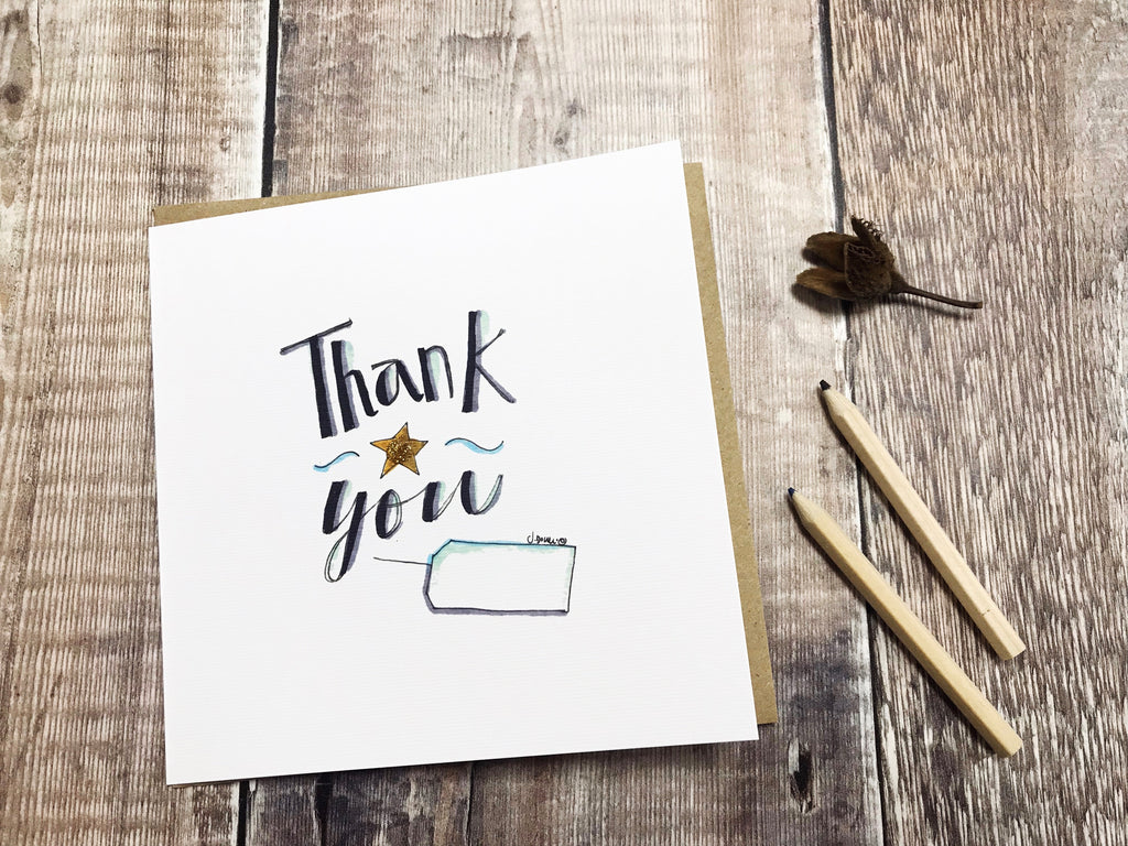 Thank you Text Card - Personalised