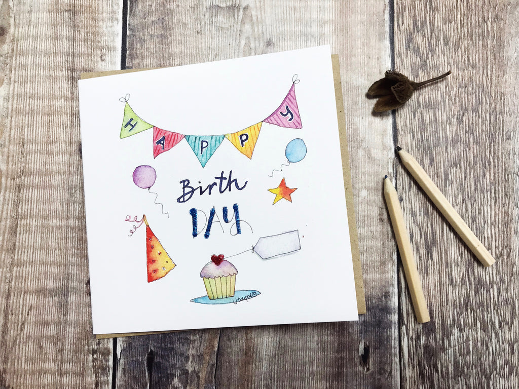 Happy Birth Day Card - Personalised
