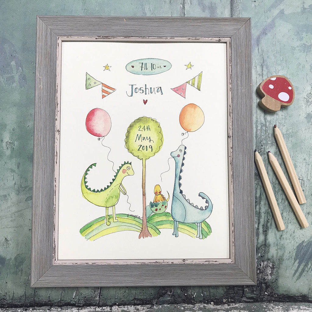 """Little Dinosaur"" Personalised Print"