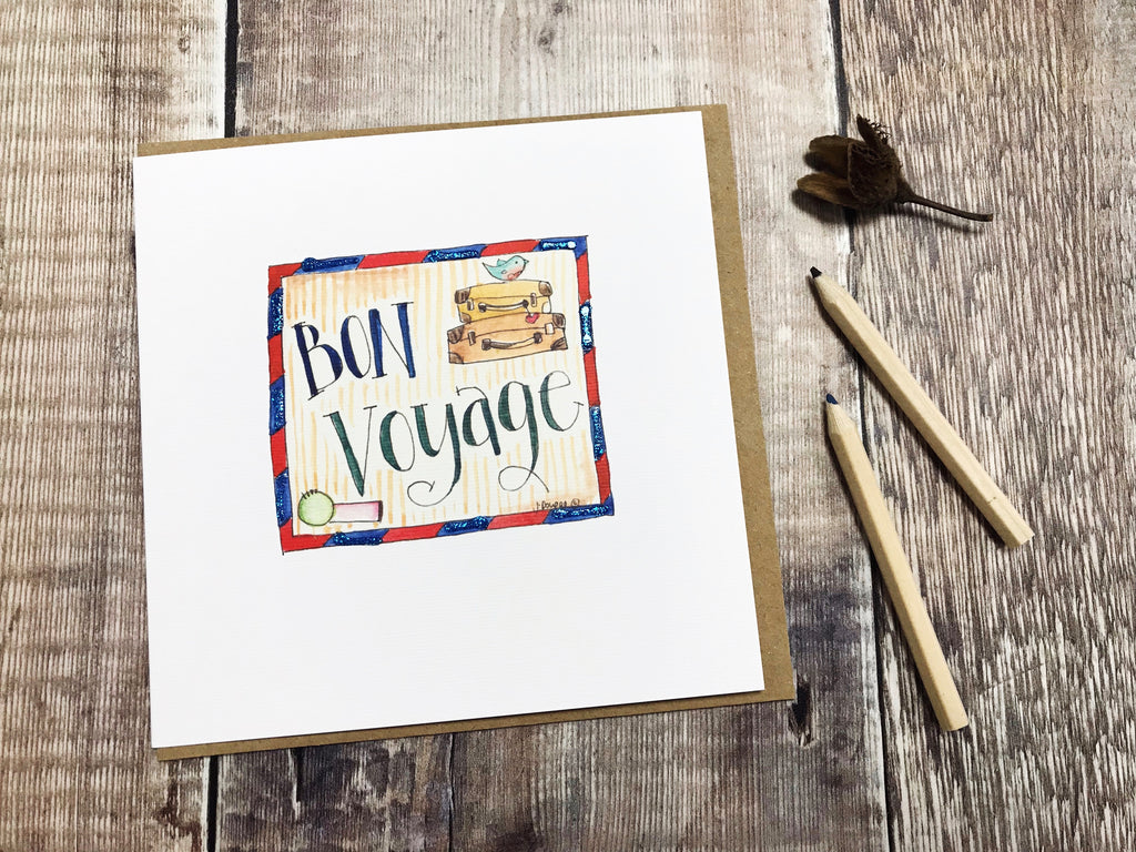 Bon Voyage Card - Personalised