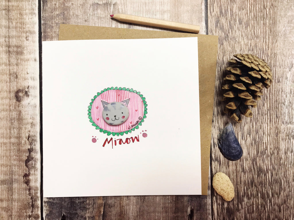 Miaow Cat Card - Personalised
