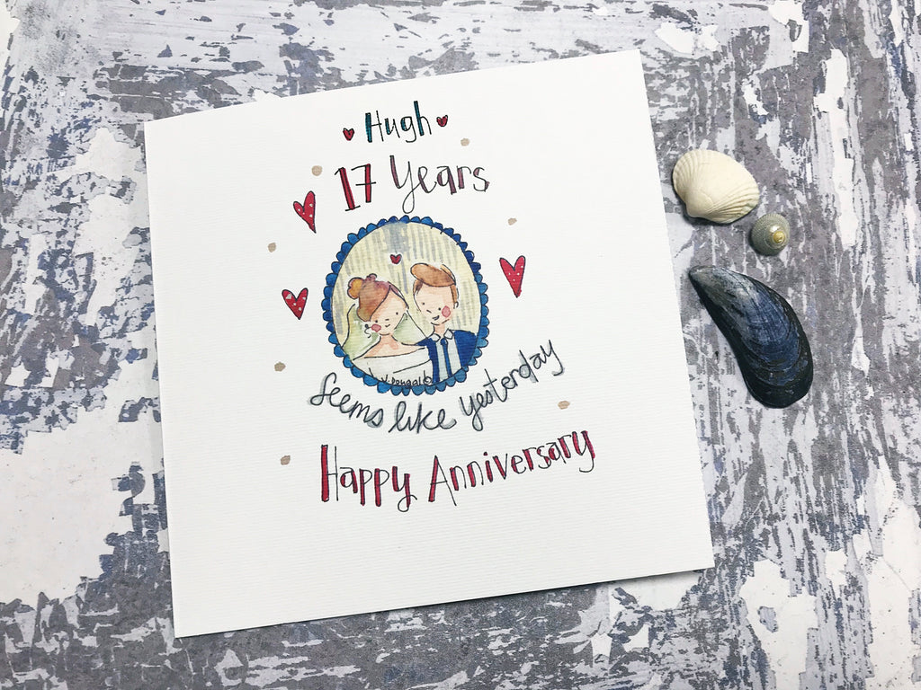 Anniversary, seems like Yesterday Card - Personalised