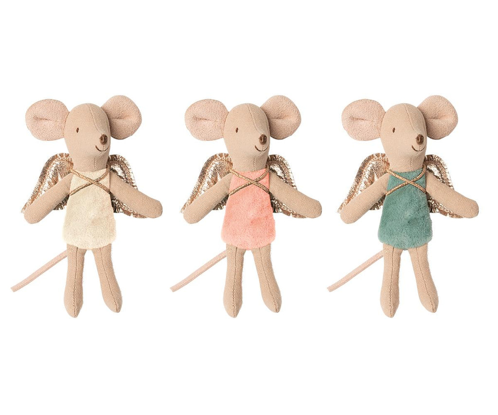 Maileg Angel Mouse - 3 assorted colour ways.